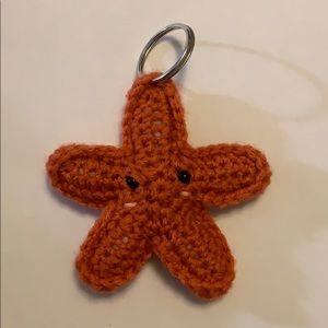 Starfish keychain crochet
